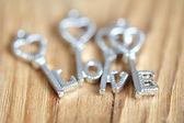 Mensagem de amor — Fotografia Stock