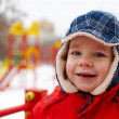 Boy in winter park — Stock Photo #17205589