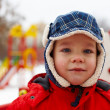Boy in winter park — Stock Photo