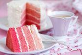 Bolo rosa ombre — Foto Stock
