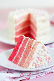 Pink Ombre Cake — Stock Photo