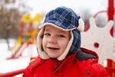 Boy in winter park — Stock Photo