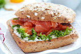 Sandwich with salmon — Photo