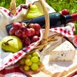 Romantic picnic basket — Stock Photo #18983737