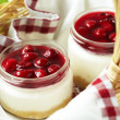 cherry cheesecake — Stock Photo