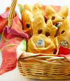Easter bunny buns — Stock Photo