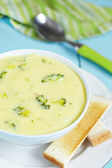 Broccoli and cheddar soup — Stock Photo