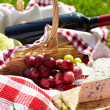 Romantic picnic basket — Stock Photo #21250379