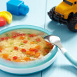 Chicken soup for baby — Stock Photo
