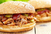 Pulled pork sandwich — Foto Stock