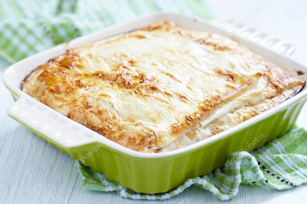 Пирог с сыром и фаршем из лаваша рецепт с