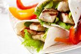 Fresh tortilla wrap — Stock Photo