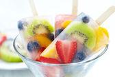 Fruity popsicle sticks — Stock Photo