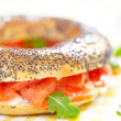 bagel and lox — Stock Photo