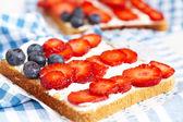 American flag toast — Stock Photo