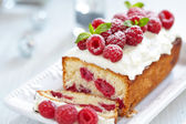 Raspberry Cake for holidays — Stock Photo