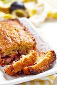 Plum oatmeal cake — Stock Photo