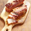 Baked caramel pork belly — Stock Photo