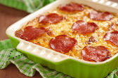 Casserole with pepperoni — Stock Photo