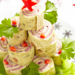 Wrapped tortilla sandwich for Christmas — Stock Photo #31413677
