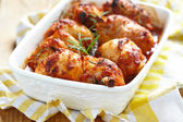 Baked chicken legs — Stock Photo