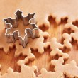 Stock Photo: Making gingerbread cookies for Christmas
