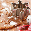 Making gingerbread cookies for Christmas — Stock Photo #31996011