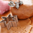Making gingerbread cookies for Christmas — Stock Photo #33242131