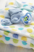Layette for newborn baby boy — Stock Photo