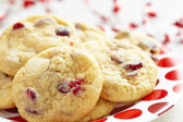 White Chocolate Chip Cranberry Cookies — Stock Photo