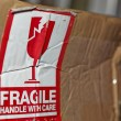 Fragile Handle With Care Sign — Stock Photo