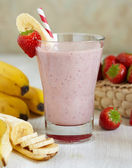 Strawberry Banana Smoothie — Stock Photo