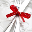 Stock Photo: Romantic holiday table setting