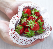 Strawberries for Valentine's Day — Stock Photo