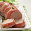 Stock Photo: Tenderloin wrapped bacon