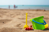 Beach toys in the sand — Stock Photo