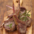 Stock Photo: Roasted lamb chops