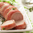 Stockfoto: Tenderloin wrapped bacon
