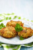 Vegetable pancakes with potato and brussel sprouts — Foto Stock