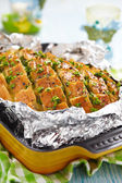 Stuffed Cheesy Bread — Stock Photo
