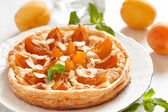 Apricot and Almond Tart — Stock Photo