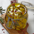 Marinated cheese in olive oil — Stock Photo #40076657