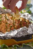 Stuffed Cheesy Bread — Stock Photo