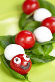 Caprese salad for kids — Stock Photo