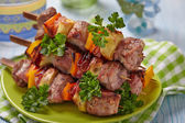 Delicious pork kebab — Stock Photo