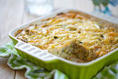 Casserole with cabbage and zucchini — Stock Photo