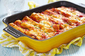 Cannelloni with meat — Stock Photo