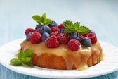 Fresh berries tart — Stock Photo
