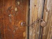 Lås på gamla dörrar — Stockfoto