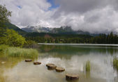 Mysterious mountain lake. — Stock Photo